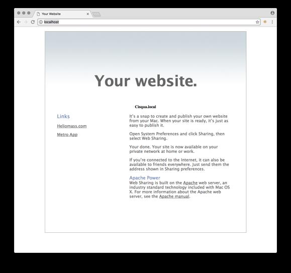 Mac Homepage
